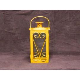 Petite lanterne de jardin métal et verre