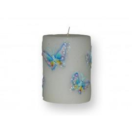 Bougie Motif Papillons