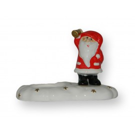 Père-Noël bougie en porcelaine