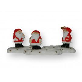 Lot de 3 Pères-Noël porcelaine