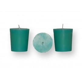 Lot de 3 bougies vert turquoise votives