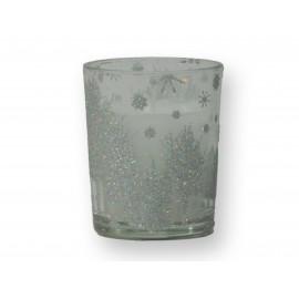 Bougie dans verre aux décos de Noêl