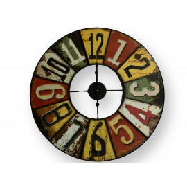 Horloge grand modèle en fer forgé style vintage