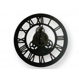 Horloge petit modèle en fer forgé à chiffres romain à pile