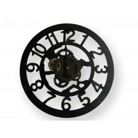 Horloge petit modèle en fer forgé à chiffres standards à pile