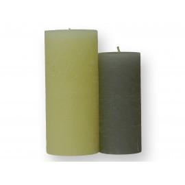 Lot de 2 bougies cylindriques