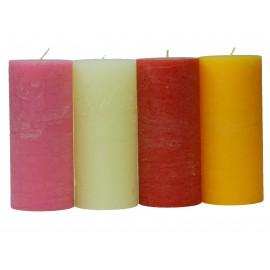 Lot de 4 grandes bougies cylindriques