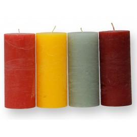 Lot de 4 petites bougies cylindriques