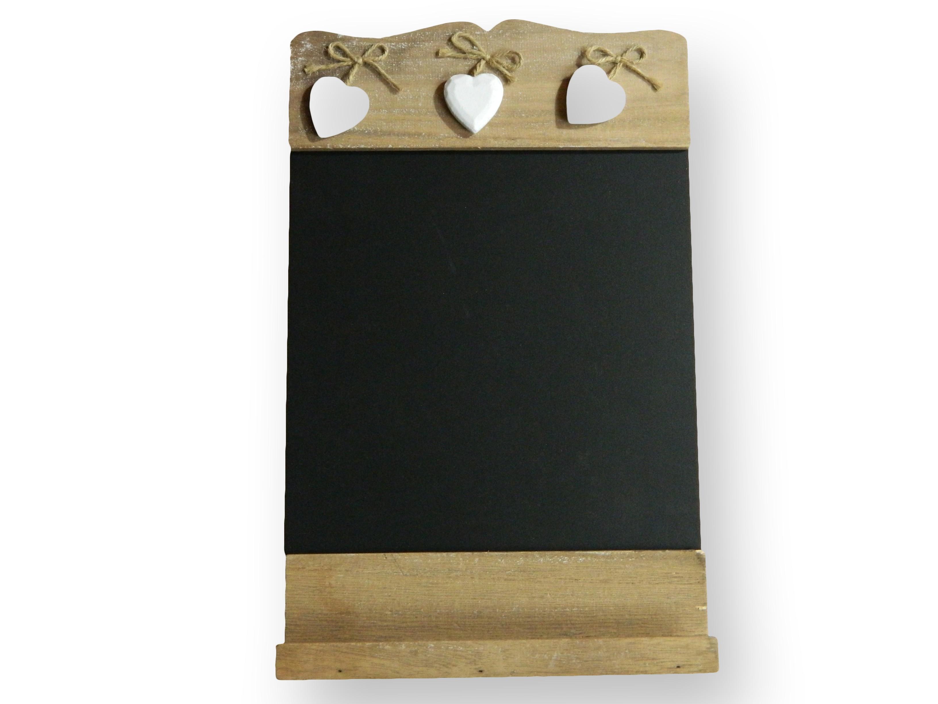 tableau memo rectangle en bois et ardoise pas cher