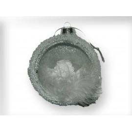 Ange avec banjo dans boule en verre à suspendre