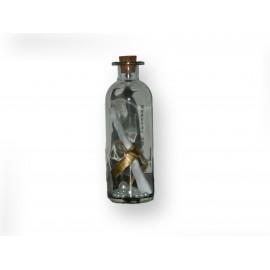 Message dans sa bouteille en verre motifs perles