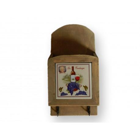 Porte-courrier, porte-clés en bois