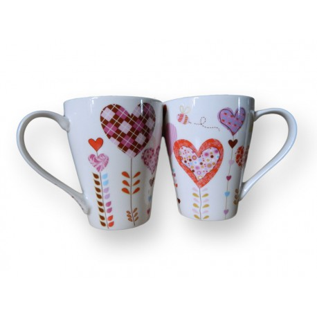 Duo tasses coeur