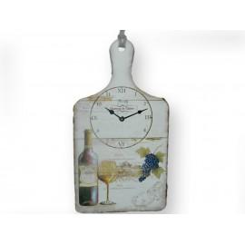 Horloge motif vin et raisin